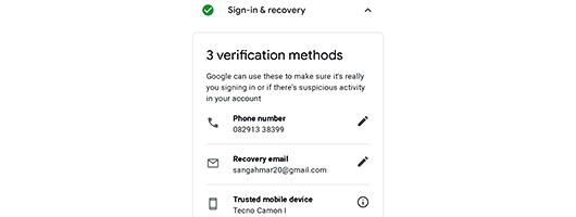 Recover Your Google Account
