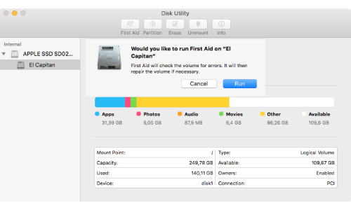 Mac Recovery Mode Disk Utility