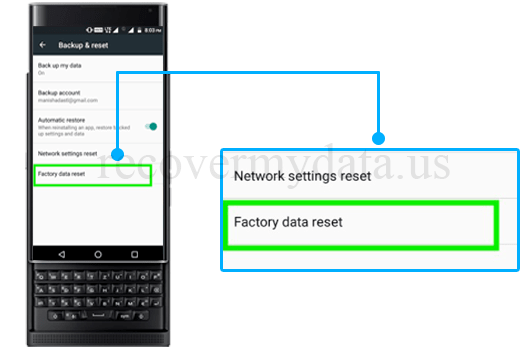 recover data from factory reset Blackberry