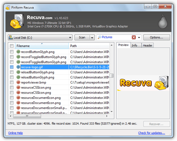 How to Recover Ignored Files in Recuva