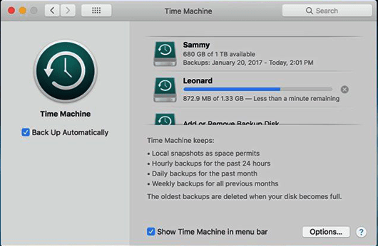 Recover deleted files from Trash Mac using time machine
